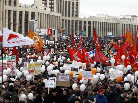 В Москве закончился многотысячный митинг оппозиции
