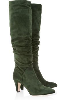 Зима - сапоги из замши, ботинки и сапоги на шнуровке.