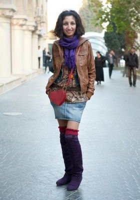 Уличная мода Баку.