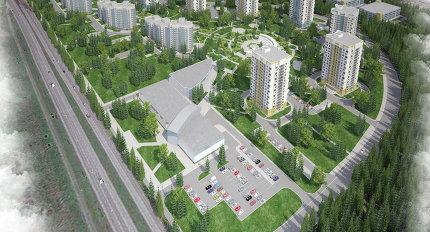 """Проект планировки 23-го микрорайона Зеленограда ( """"Зеленый бор """") на Кутузовском шоссе."""