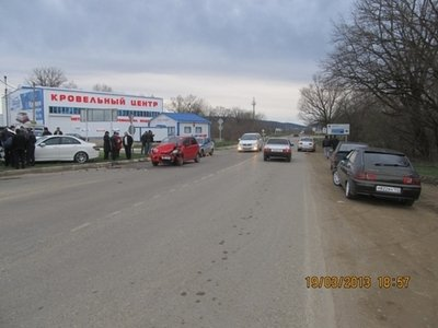 Вчера, 19 марта, в Горячем Ключе столкнулись три автомобиля, есть