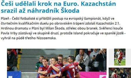 По окончании матча Чехия — Казахстан республиканский <nobr>интернет-портал Sports.kz проштудировал чешские СМИ и выяснил что местные журналисты написали сразу же по итогам прошедшей игры.