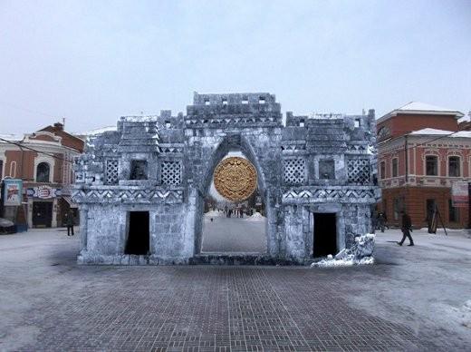 Челябинск знает, как его избежать.  Здесь будет создана копия ворот майя.