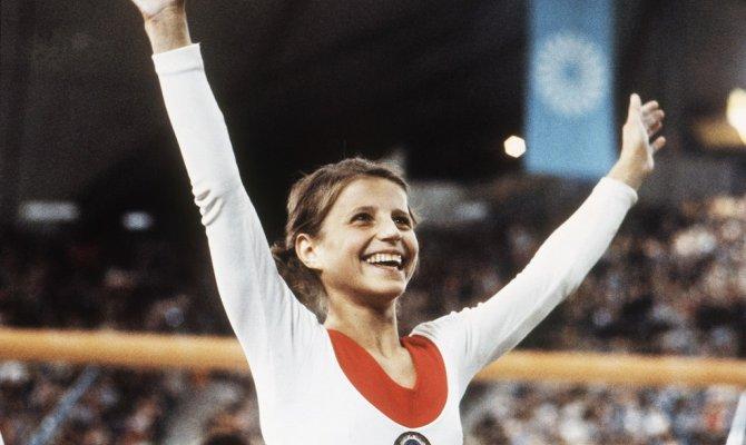 Ольга Корбут на Олимпиаде 1972 года.