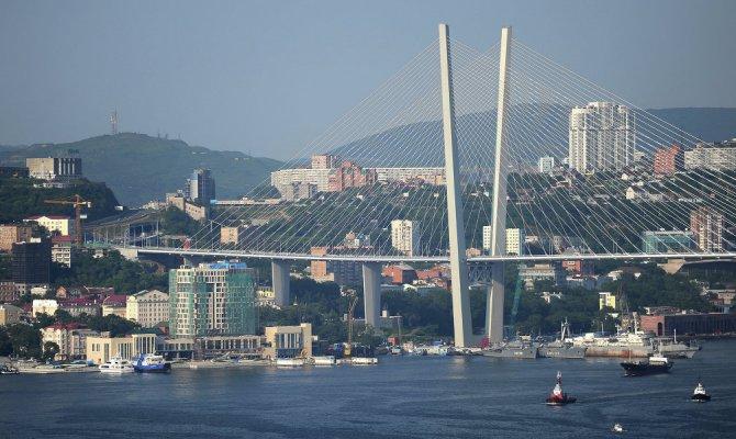 Мост через бухту золотой рог во