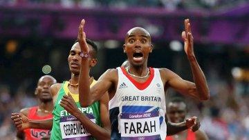 Британец Мо Фара победил на Олимпиаде в Лондоне в беге на 5000 метров - Фото