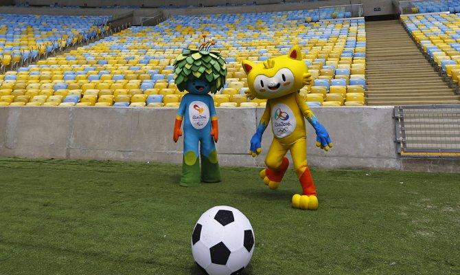 Талисман ОИ-2016 в Бразилии.